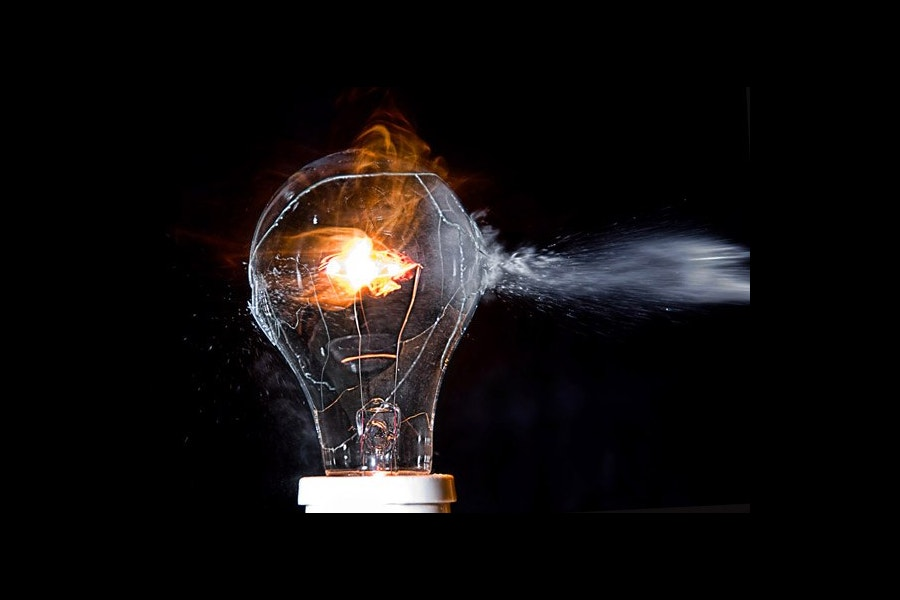 High Speed Photography of Bulb