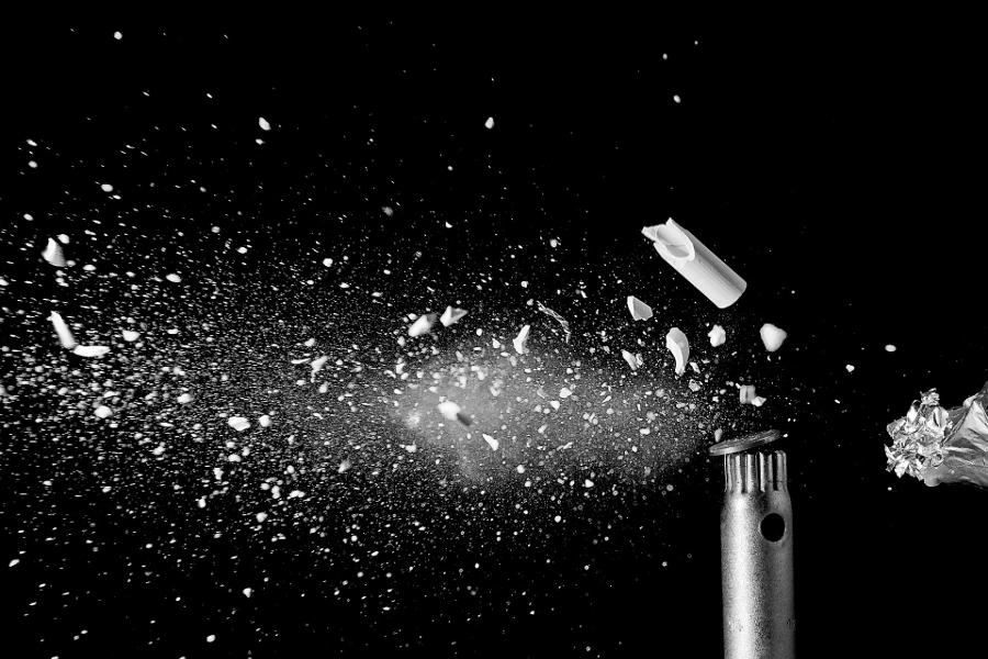 Explosion of Broken Bullet
