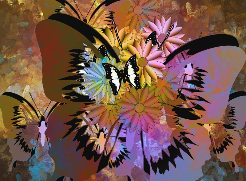 Abstract Butterfly Artwork