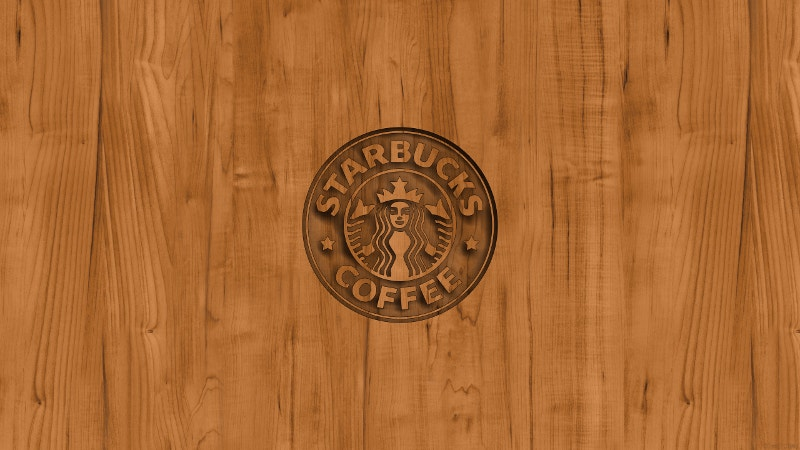 Coffee Logo Wood Wallpaper