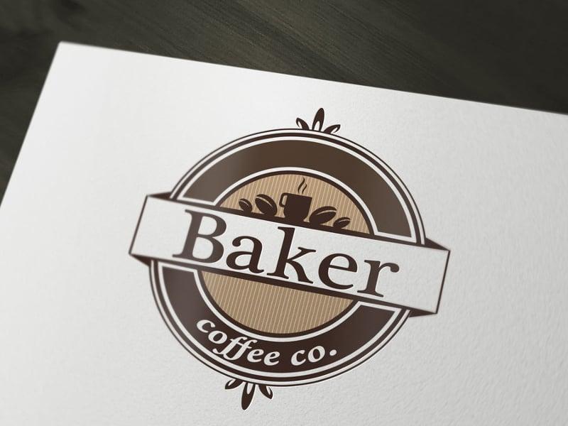 coffee logo design interface