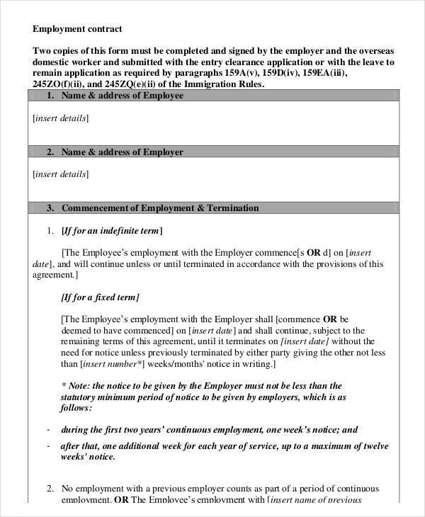 domestic-worker-employment-contract-template