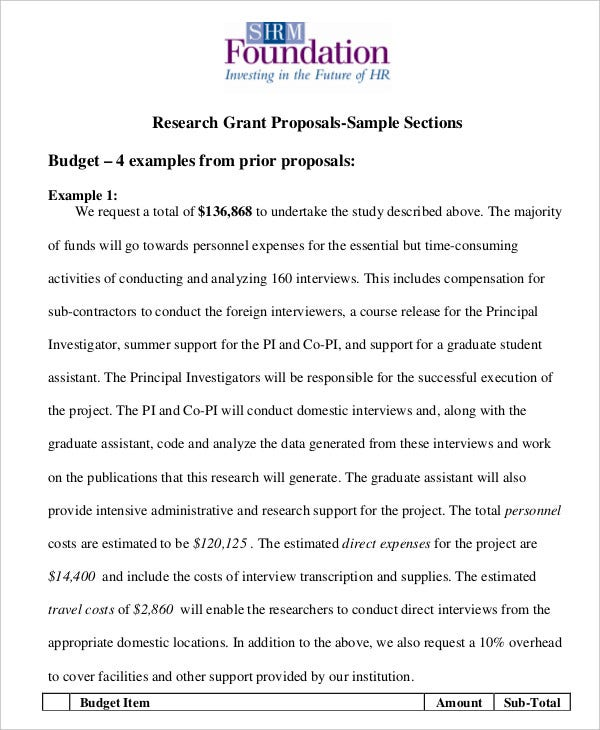 Grant Proposal Template   Free Word Pdf Documents Download