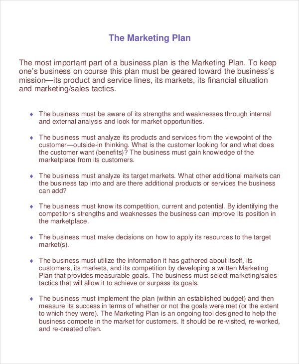 20 marketing plan templates free premium templates new product marketing plan template accmission