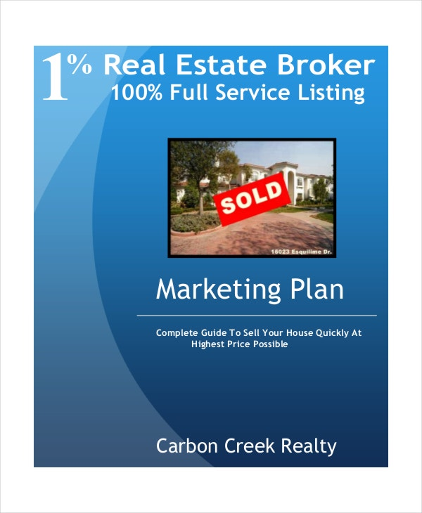 real estate broker marketing plan