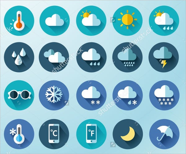 20 weather icons Set
