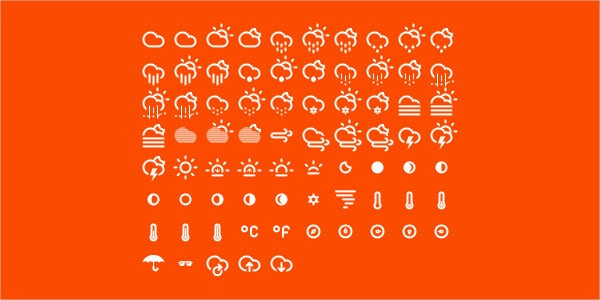 UI Design Weather Icon