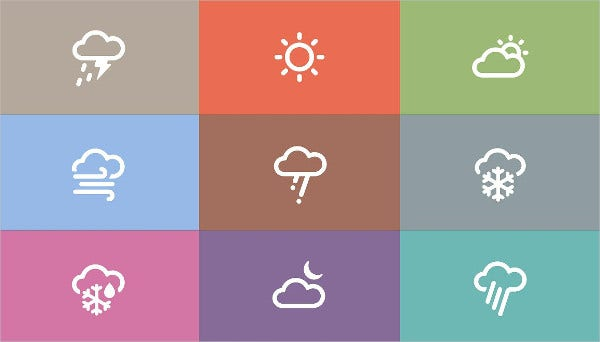 Vector Design Weather Icons