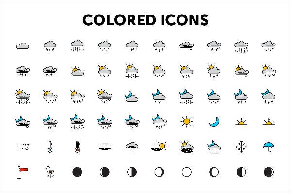 Vector Design Weather Icon Set