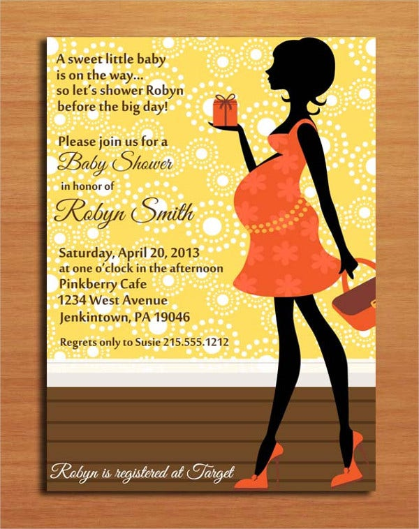 Modern Baby Shower Invitation Card