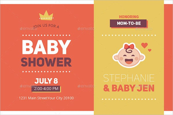Printable Baby Shower Invitation Card