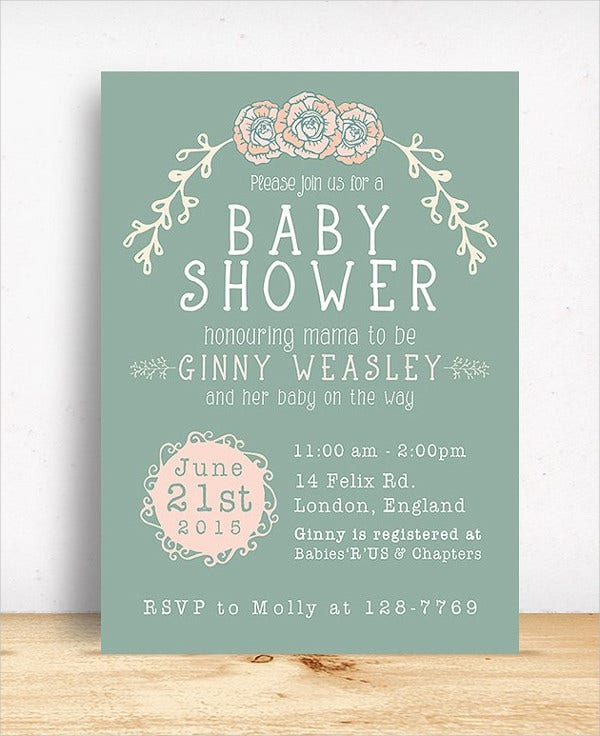 PSD Design Baby Shower Invitation Card