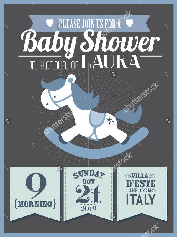 Vector Design Baby Shower Invitation
