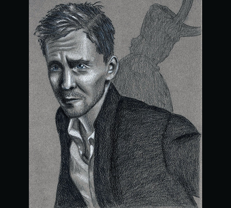 graphic design hiddleston illustration