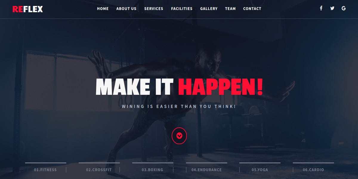 fitness muse template