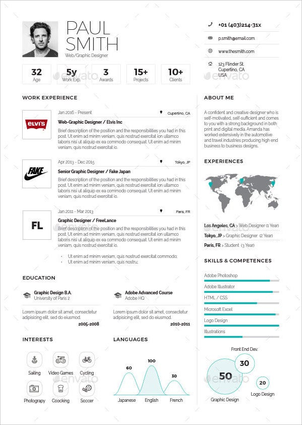 Executive Infographic Resume