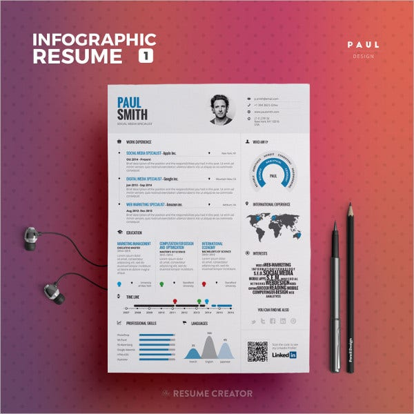 experience infographic resume