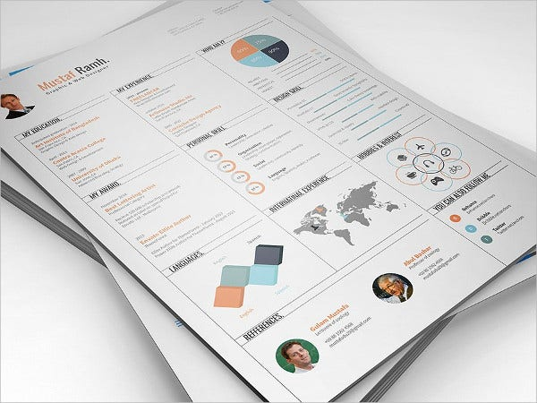 Graphic Design Infographic Resume