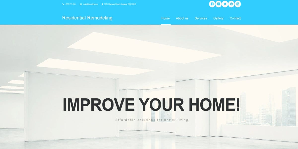 house remodeling muse template