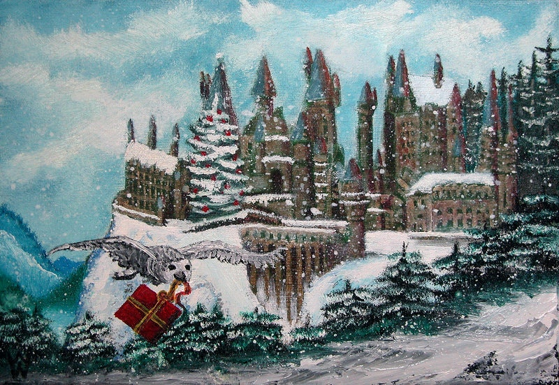 christmas traditional painting