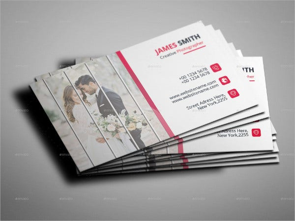 Wedding Photographic Business Card