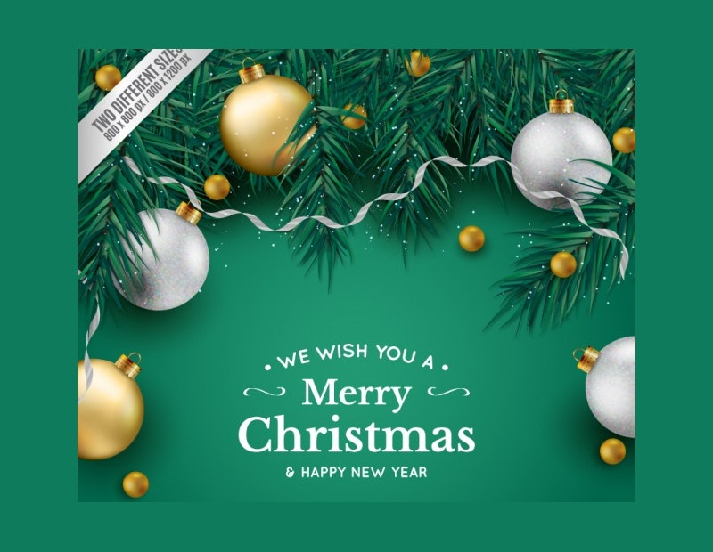 green background christmas mockup