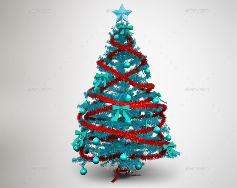 christmas tree mockup template