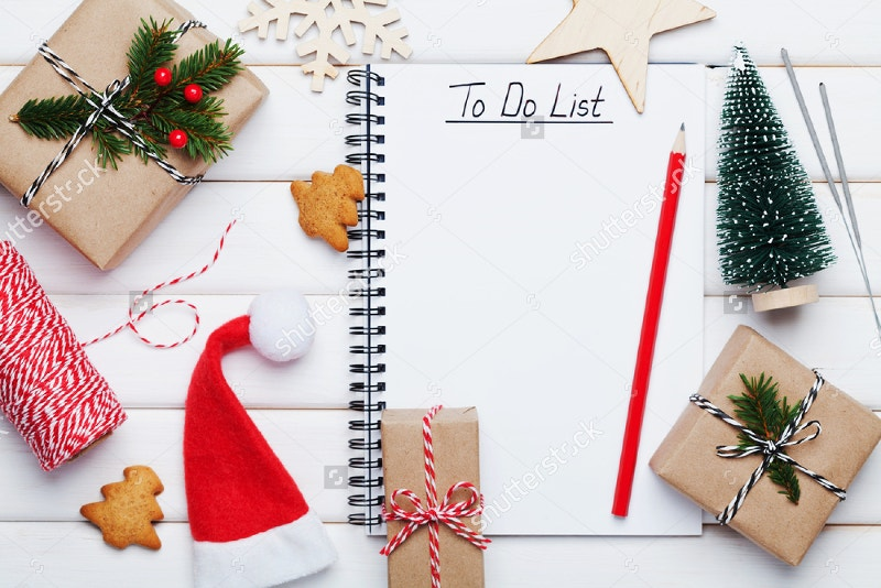 christmas planning concept