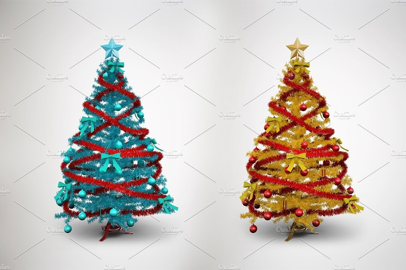 awesome christmas tree mockup