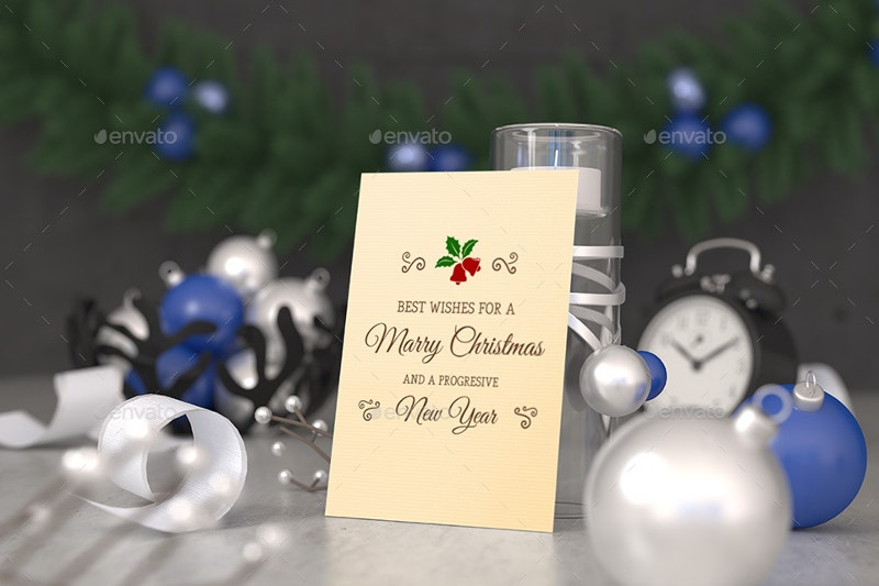 7 christmas greeting card mockups