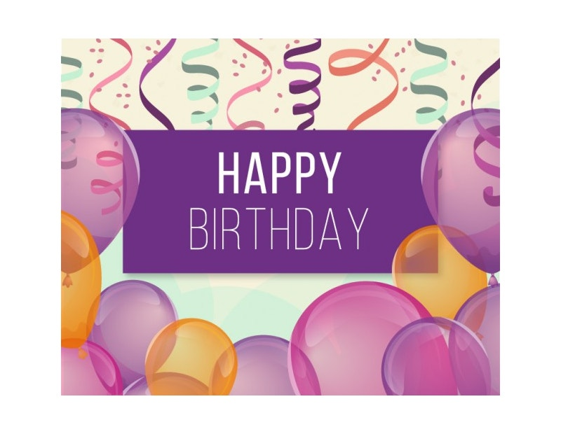 Free Birthday Background with Balloons