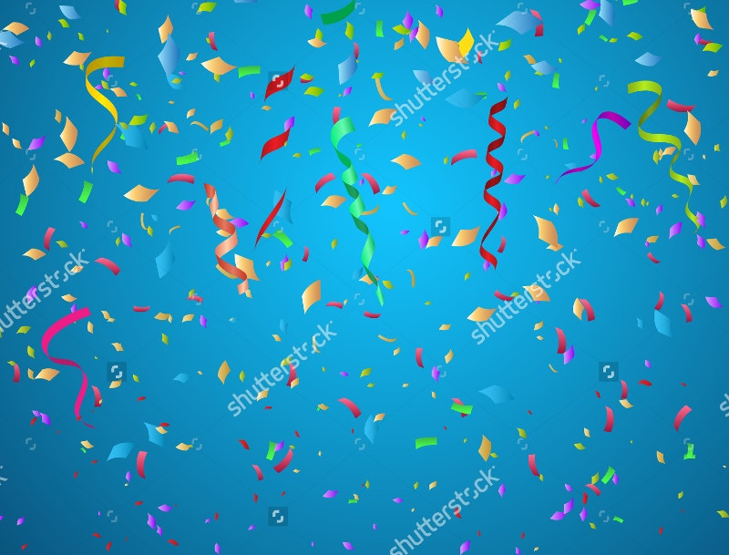 confetti background ideal for birthday