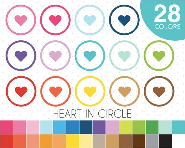 heart button clipart icon
