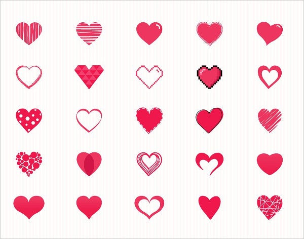 vector heart symbol icon