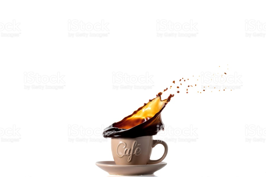 spilling black coffee photography
