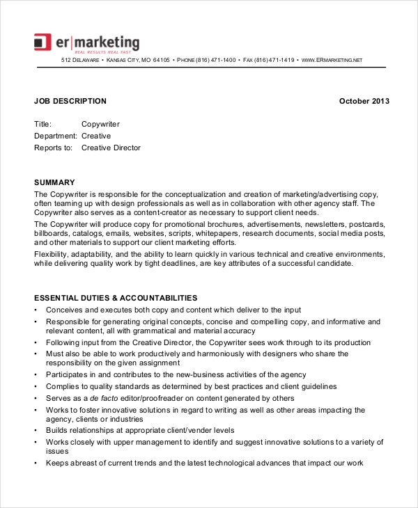 marketing-copywriter-job-description-in-pdf