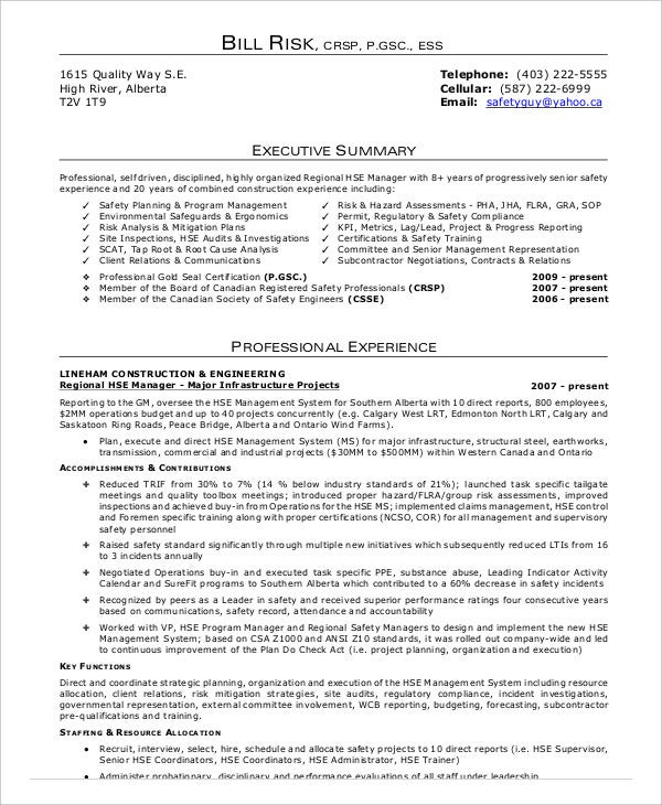 Construction Safety Officer Resume  Safety Officer Resume
