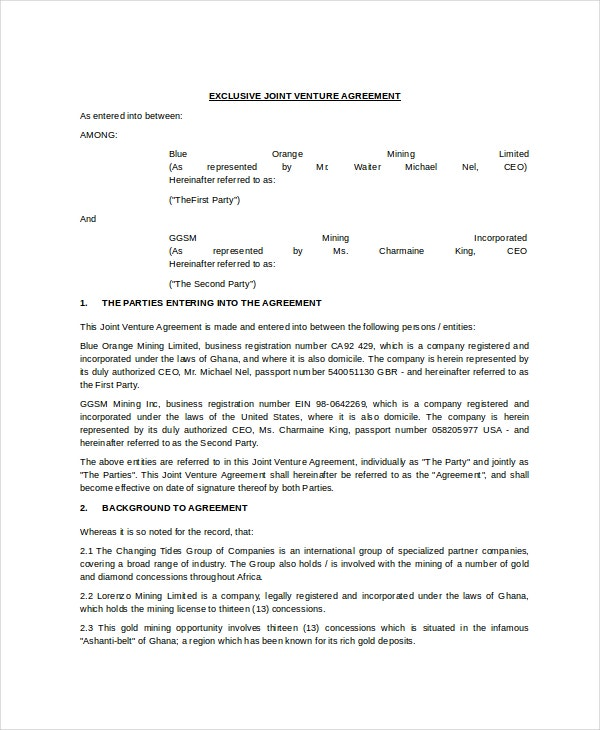 exclusive-joint-venture-agreement-template-in-word