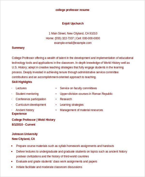 college resume 9 free sample example format free