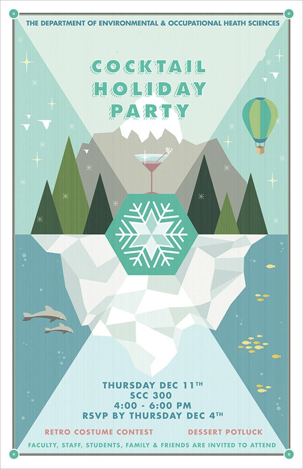 19+ Holiday Party Invitations - Free Psd, Vector Ai, Eps Format