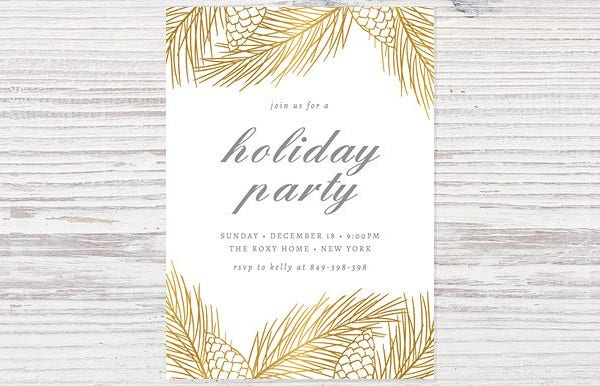 Customise Holiday Party Invitation