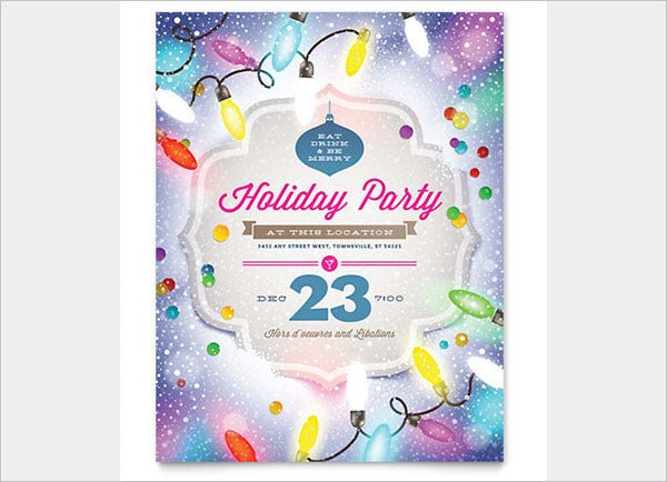 Decorated Holiday Party Invitation Flyer