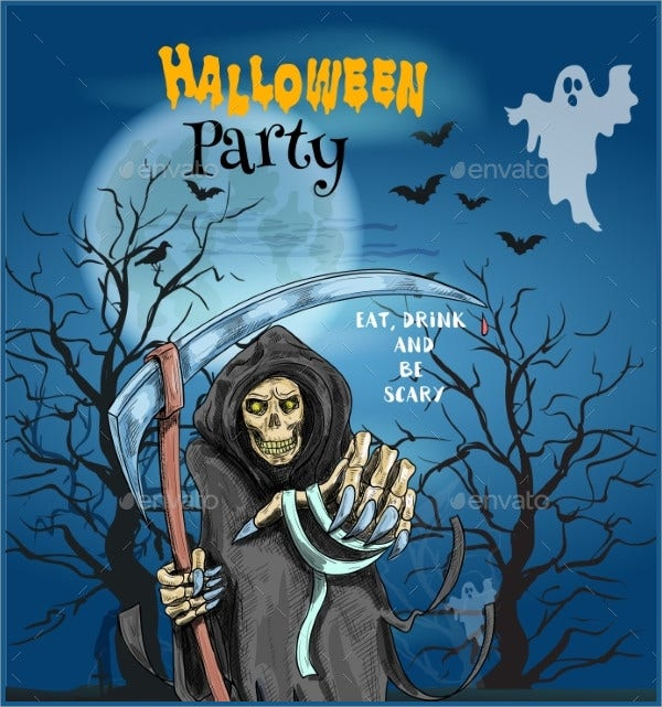 Halloween Holiday Party Invitation Card