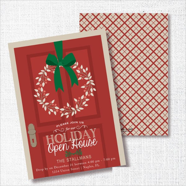 Holiday Open House Party Invitation
