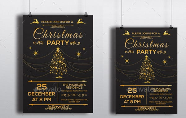 19 Holiday Party Invitations Free PSD Vector AI EPS Format – Holiday Party Flyer Template