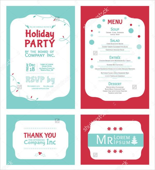 winter holiday party invitation
