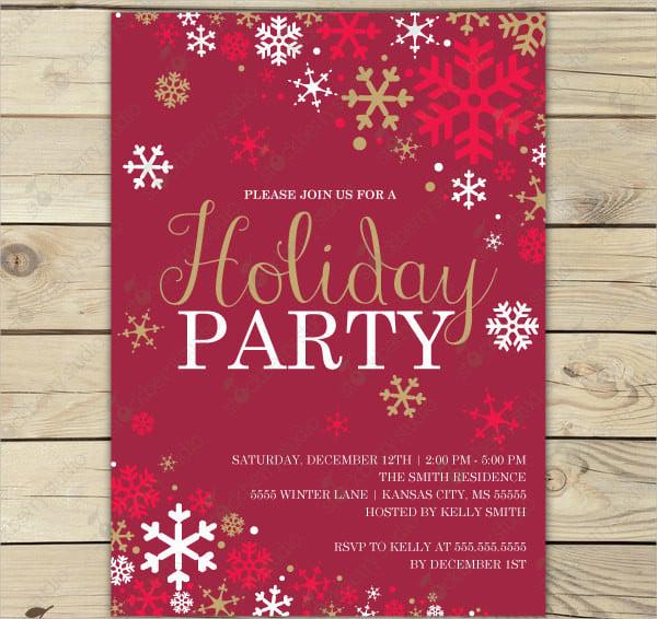 winter holiday party invitation2
