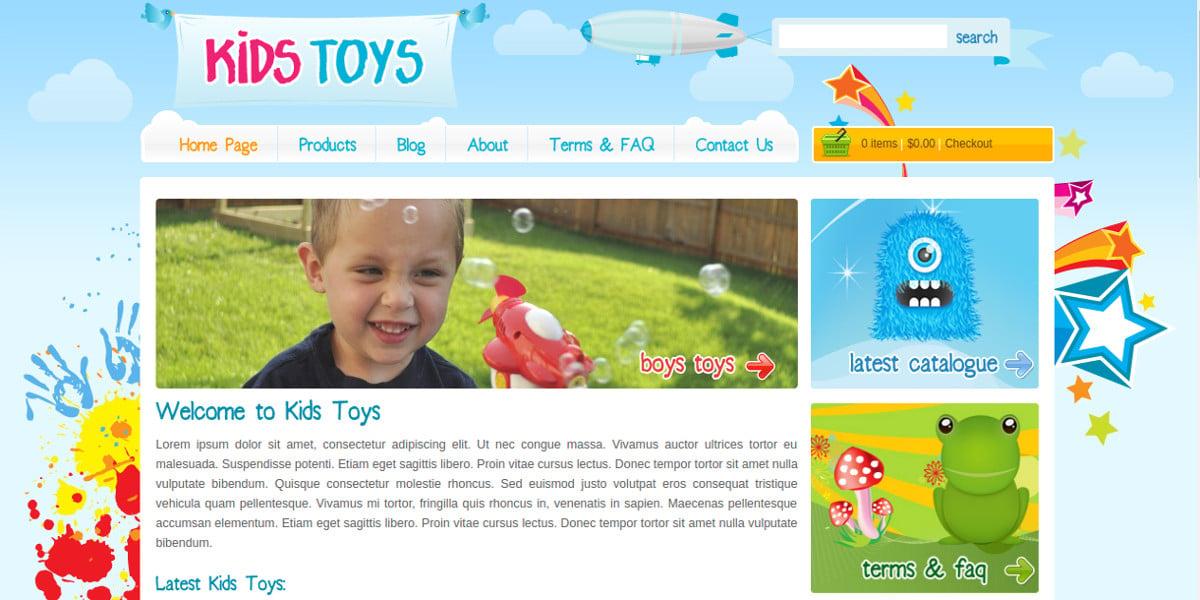 kids toys wordpress shopping cart theme