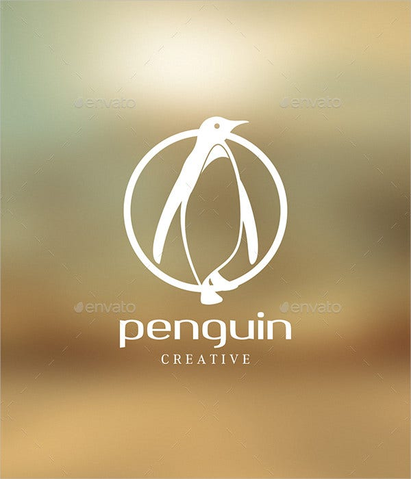 business design penguin logo