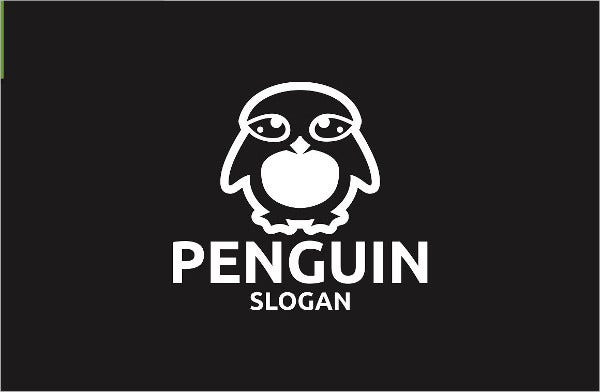 editable penguin logo design